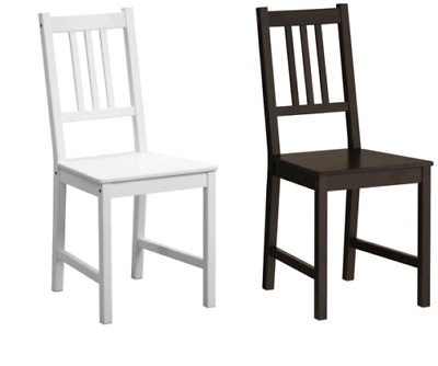 Ikea Stefan Dining Chair, White, Brown Black, Solid Pine Wood Chairs Intended For Well Known Pine Wood White Dining Chairs (View 16 of 20)
