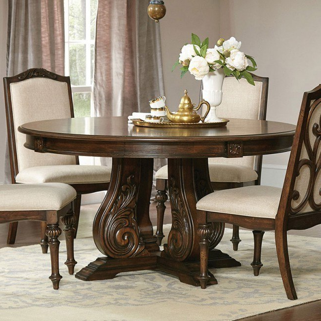 Ilana Round Dining Table (antique Java) – Dining Room And Kitchen With Regard To Most Up To Date Java Dining Tables (View 11 of 20)