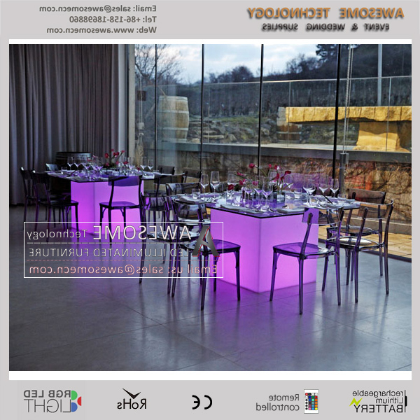 Illuminated Led Banquet Rectangle Buffet Table (cb800) – Buy Hotel Throughout Most Recent Led Dining Tables Lights (View 17 of 20)