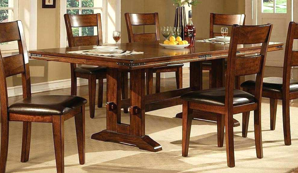 Imágenes De Dark Wood Extending Dining Table Set With Latest Dark Wood Dining Tables And Chairs (View 20 of 20)