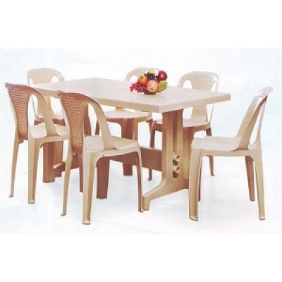Imperial Dining Tables For Famous Nilkamal Imperial Dining Table Set With Chair 4002 Model (Gallery 1 of 20)