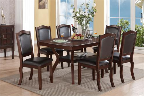 Imperial Dining Tables Intended For Widely Used Imperial Dining Set Poundex F2290 F (View 11 of 20)