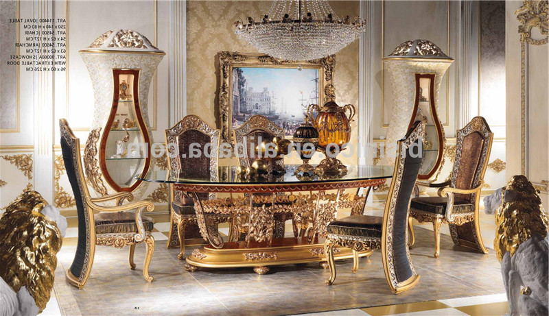Imperial Dining Tables Throughout Well Known Italian Royal Dining Room Furniture Set,imperial Wood Carving And (View 12 of 20)