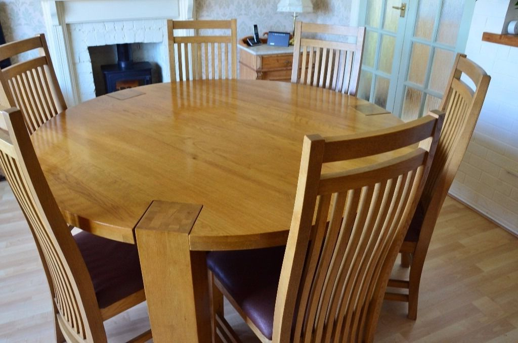 In Flamborough Throughout 2017 Solid Oak Dining Tables And 6 Chairs (View 6 of 20)