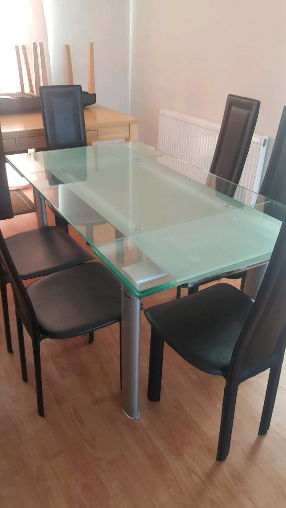 In Sunderland, Tyne And Within Well Known Extendable Glass Dining Tables And 6 Chairs (View 17 of 20)