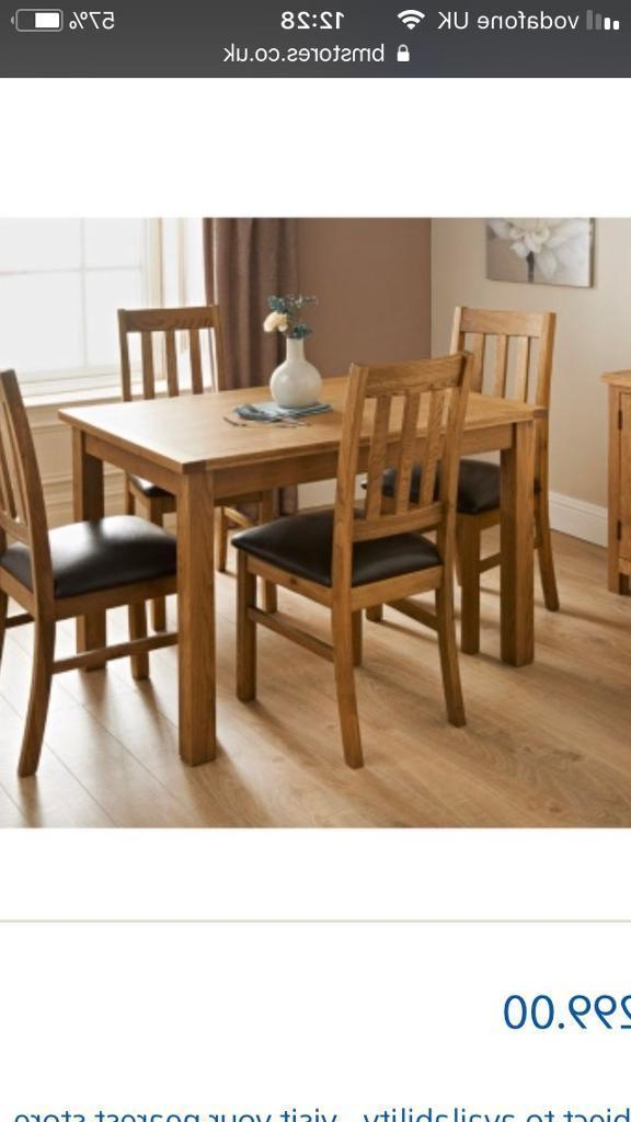 In Swindon Regarding Famous Oak Dining Tables And 4 Chairs (View 12 of 20)