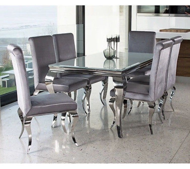 In Throughout Most Up To Date White Glass Dining Tables And Chairs (View 6 of 20)