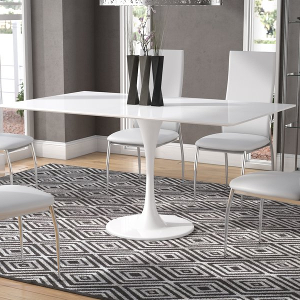 Ina Pewter 60 Inch Counter Tables With Frosted Glass Pertaining To Widely Used 60 Inch Rectangle Dining Table (View 2 of 20)