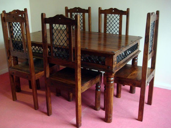 India Wooden Dining Set Intended For Indian Dining Tables And Chairs (View 9 of 20)