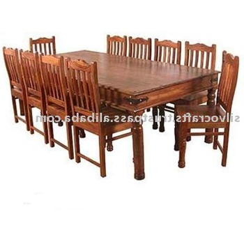 Indian Jodhpur Rajasthan Solid Sheesham Wood Dining Sets With Dining In Current Sheesham Wood Dining Chairs (Gallery 5 of 20)