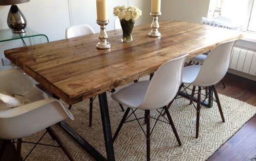 Industrial Dining Table Set – Castrophotos Pertaining To Well Known Ebay Dining Suites (Gallery 6 of 20)
