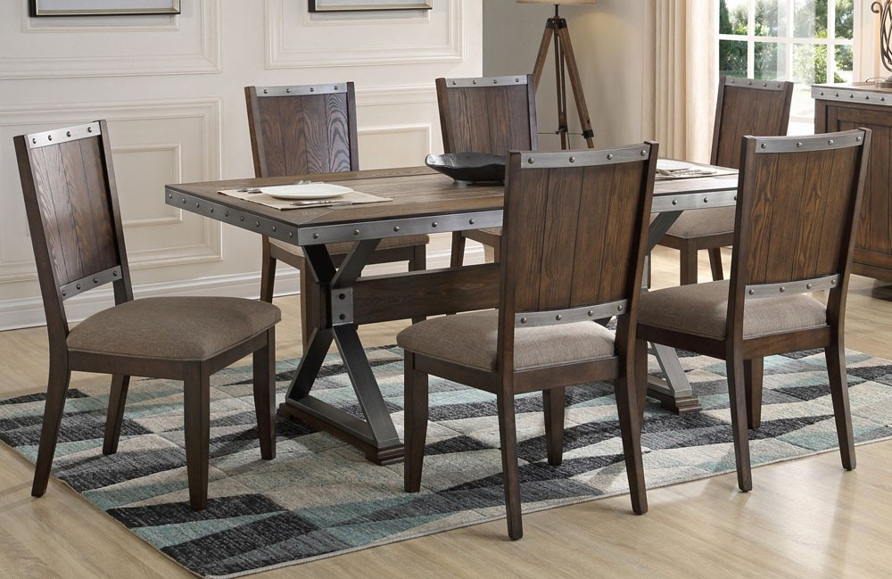 Industrial Style Dining Tables For Widely Used 12 Industrial Dining Table Set, 19 Chic Industrial Dining Room (Gallery 18 of 20)