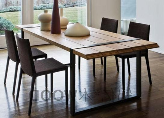 Industrial Style Dining Tables Regarding Recent French Industrial Style Desk Loft America Nostalgic Retro Iron Wood (View 15 of 20)
