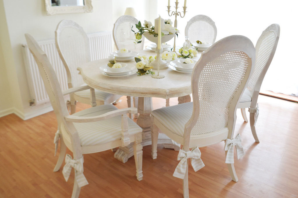 Interior. Shabby Chic Dining Set: Best Shabby Chic Dining Table And Intended For Best And Newest Shabby Chic Dining Chairs (Gallery 6 of 20)