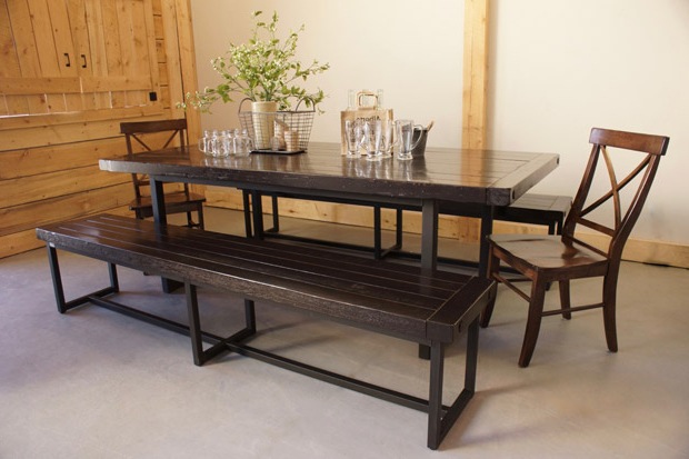 Iron And Wood Dining Tables Inside 2018 Wood & Iron Dining Table In Calgary, Alberta / Liken Woodworks (View 8 of 20)