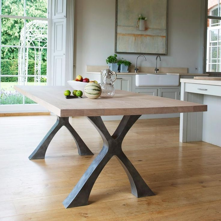 Iron And Wood Dining Tables Pertaining To Latest Dining Tables With Metal Legs (View 9 of 20)