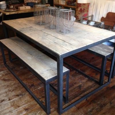 Iron Table, Table Inside Popular Iron And Wood Dining Tables (View 11 of 20)