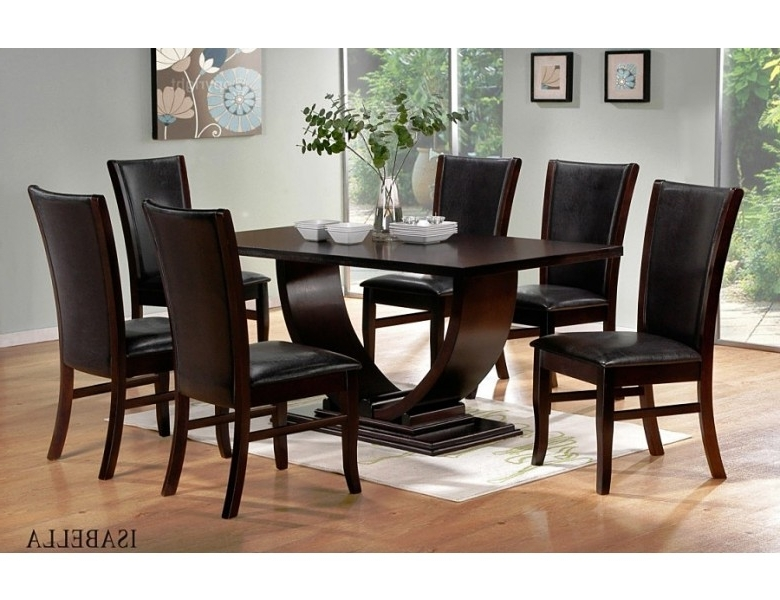 Isabella Modern Dining Room Set Pertaining To Popular Contemporary Dining Tables Sets (View 4 of 20)