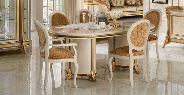 Italian Dining Room Furniture: Italian Tables & Chairs Within Current Italian Dining Tables (View 16 of 20)