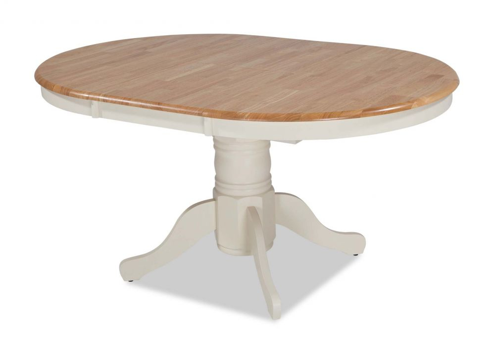 Ivory Frame Round Top Extendable Dining Table – Wyatt – Ez Living Inside Recent Wyatt Dining Tables (View 7 of 20)