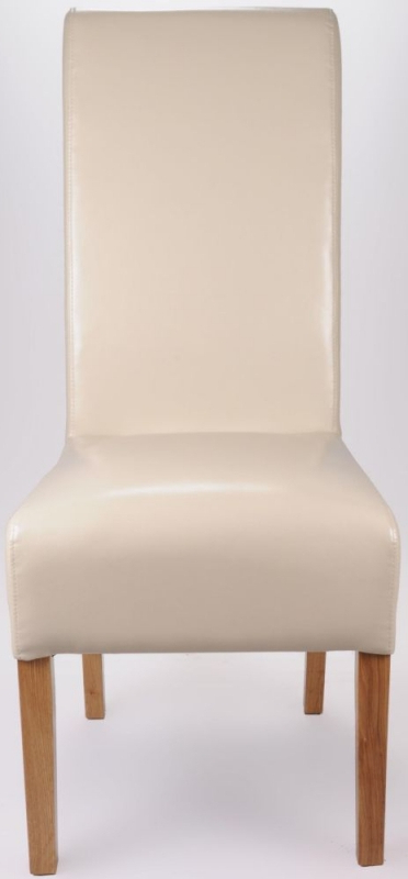 Ivory Leather Dining Chairs In Widely Used Buy Shankar Ivory Krista Bonded Leather Dining Chair (pair) Online (View 14 of 20)