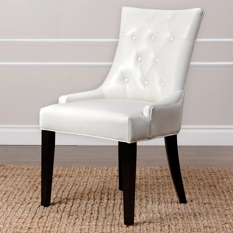 Ivory Leather Dining Chairs Pertaining To Well Liked Abbyson Isla Leather Dining Chair In Ivory – Hs Dc 013 Ivyl (Gallery 2 of 20)
