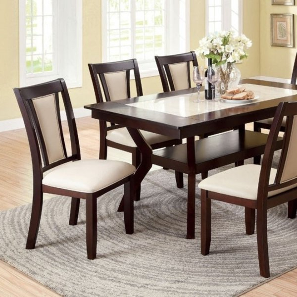 Ivory Painted Dining Tables Intended For Most Recently Released Shop Brent Two Color Dining Table, Dark Cherry & Ivory Finish – On (View 8 of 20)