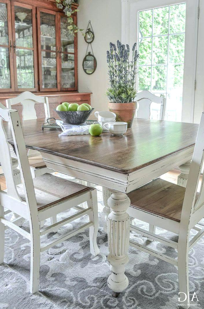 Ivory Painted Dining Tables Throughout Trendy Ivory Kitchen Table Kitchen Ivory Painted Kitchen Table And Chairs (View 18 of 20)