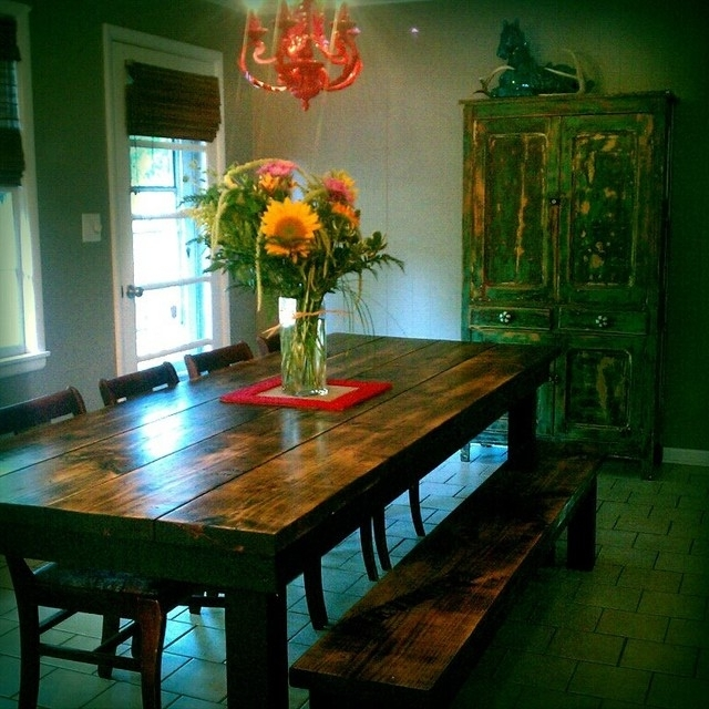 James+James 8' Farmhouse Table In Vintage Dark Walnut Stain In Recent Bale Rustic Grey Dining Tables (View 12 of 20)