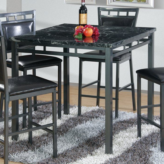 Jameson Grey 5 Piece Counter Sets Throughout Most Popular Counter Height Dining Table (View 8 of 20)