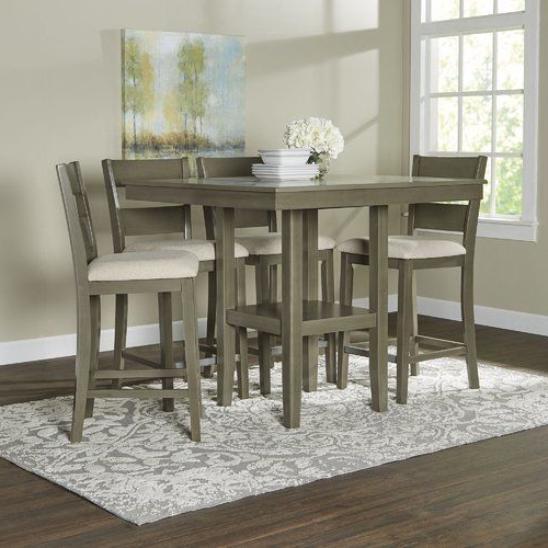 Jameson Grey 5 Piece Counter Sets With Most Recent Birch Lane Brantford 5 Piece Counter Height Dining Set (View 9 of 20)