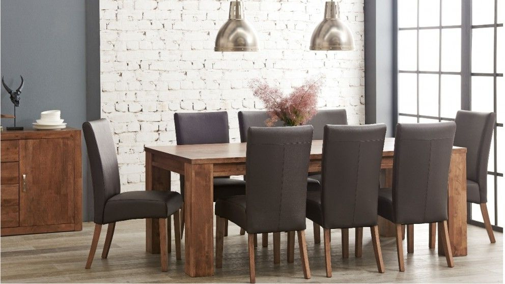 Jasper 9 Piece Dining Suite – Dining Furniture – Dining Room With Most Recently Released Norwood 9 Piece Rectangular Extension Dining Sets With Uph Side Chairs (Gallery 4 of 20)