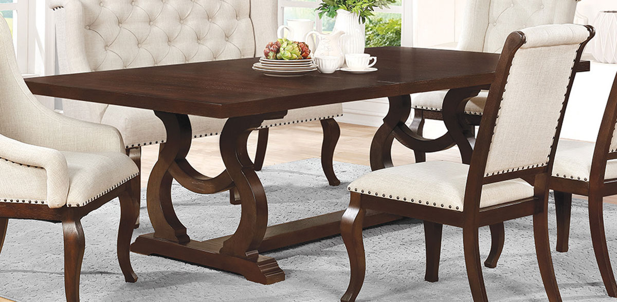 Java Dining Tables Within Well Known Coaster Glen Cove Dining Table – Antique Java 107981 At Homelement (View 11 of 20)