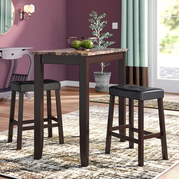 Jaxon 5 Piece Extension Counter Sets With Fabric Stools Pertaining To Widely Used Pub Style Table Set (View 7 of 20)