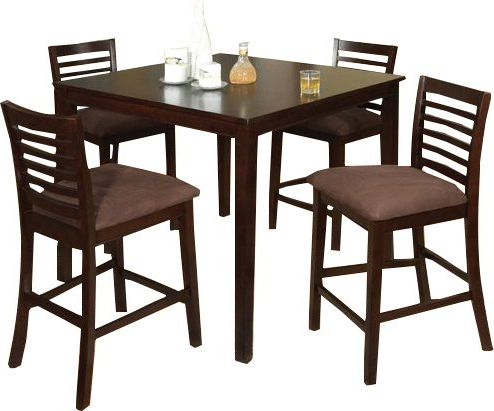 Jaxon 5 Piece Extension Counter Sets With Fabric Stools With Most Recently Released Hokku Designs Sydney Counter Height 5 Piece Dining Set & Reviews (View 9 of 20)
