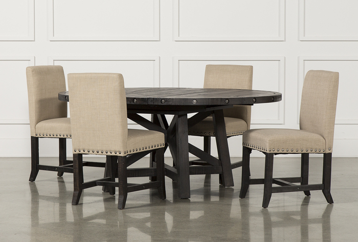 Jaxon 6 Piece Rectangle Dining Sets With Bench & Uph Chairs Pertaining To Best And Newest 7. Jaxon 5 Piece Round Dining Set W Upholstered Chairs 360 (Gallery 4 of 20)