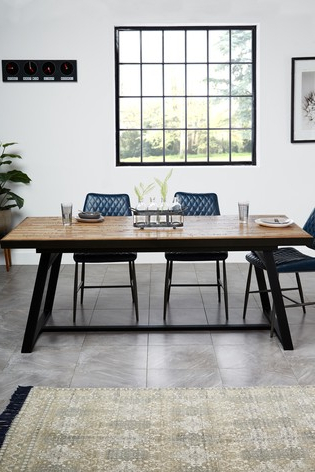 Jaxon 6 Piece Rectangle Dining Sets With Bench & Wood Chairs Inside Trendy Buy Jefferson Extending Dining Table From Next Bahrain (View 15 of 20)