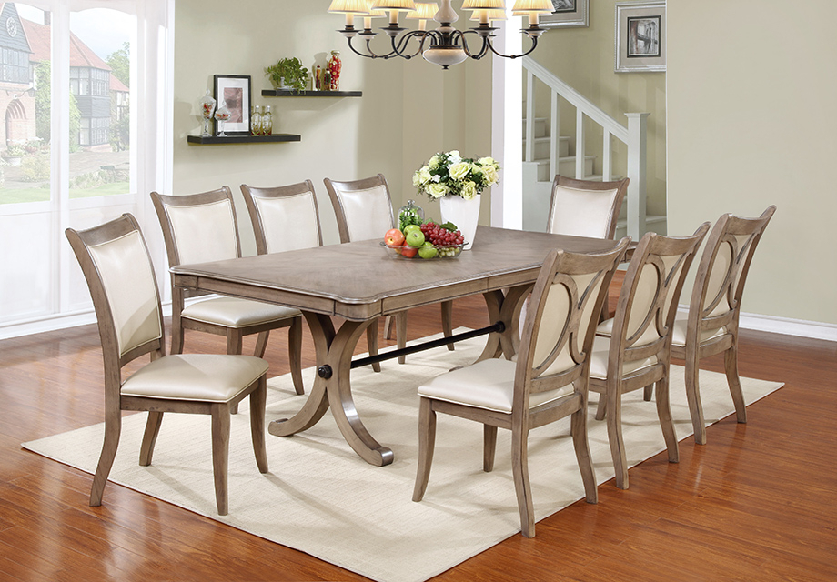 Jaxon 7 Piece Rectangle Dining Sets With Wood Chairs Throughout Famous Tables, Chairs, & Servers – Hello Furniture (View 20 of 20)