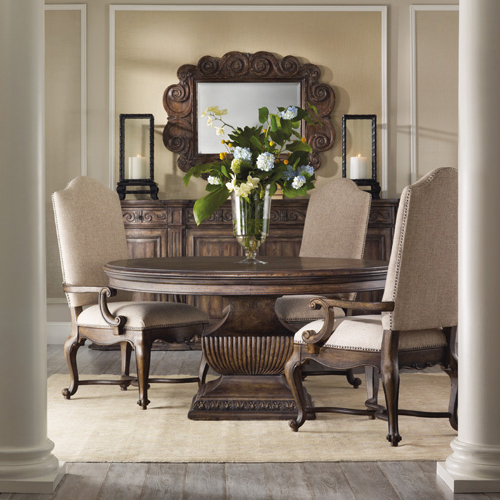Jaxon Grey 5 Piece Extension Counter Sets With Fabric Stools Throughout Most Recently Released Hooker Furniture At Olinde's Furniture – Baton Rouge And Lafayette (View 8 of 20)