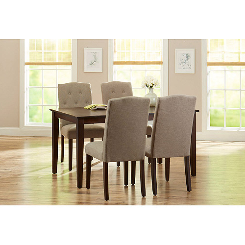 Jaxon Grey 5 Piece Round Extension Dining Sets With Upholstered Chairs With Regard To Most Current 5. Jaxon 5 Piece Round Dining Set W Upholstered Chairs Qty 1 Has (Gallery 13 of 20)
