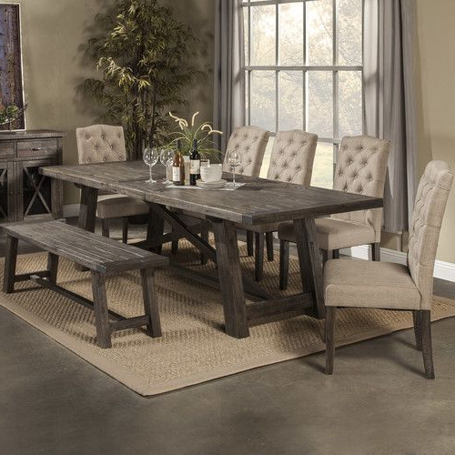 Jaxon Grey 7 Piece Rectangle Extension Dining Sets With Uph Chairs With Famous Found It At Wayfair – Todd Creek Extendable Dining Table (View 13 of 20)
