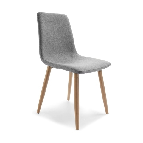 Jaxon Grey Upholstered Side Chairs In Most Recent Upholstered Dining Chair (View 6 of 20)