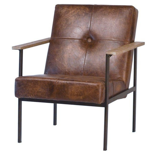 Jaxon Leather Arm Chair (Gallery 8 of 20)