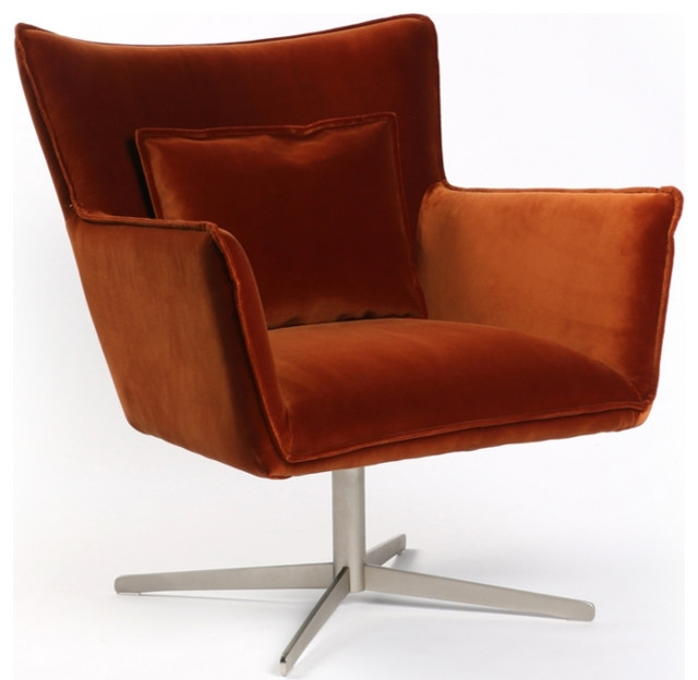 Jaxon Swivel Chair – Midcentury – Armchairs And Accent Chairs – Intended For Best And Newest Jaxon Upholstered Side Chairs (View 8 of 20)