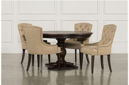 Jefferson 5 Piece Extension Round Dining Set In  (View 11 of 20)