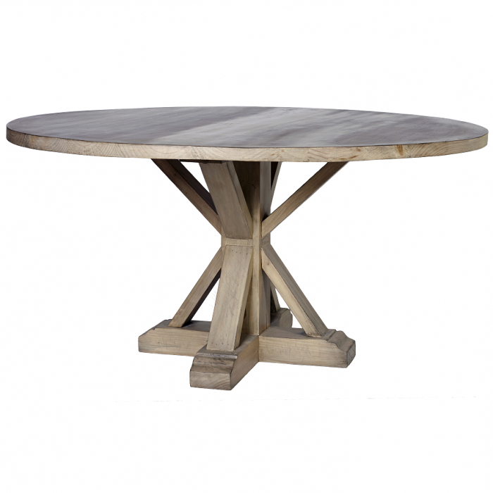 "Jefferson Extension Round Dining Tables Intended For Latest Melrose"" French Classic 150Cm Round Pedestal Dining Table (View 9 of 20)"