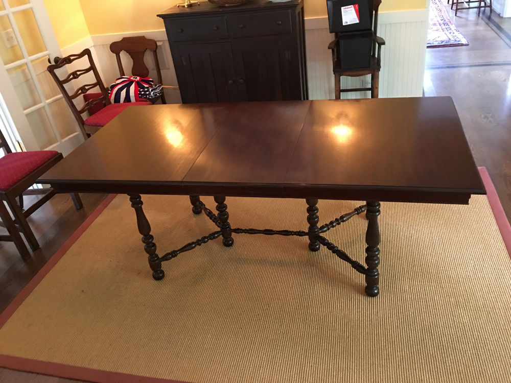 Jefferson Extension Round Dining Tables With Regard To 2017 Antique Mahogony Jefferson Woodworking Co. Louisville, Ky. Extension (Gallery 3 of 20)