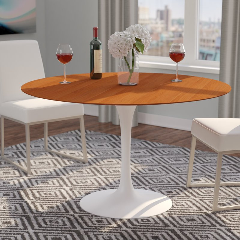 Jefferson Extension Round Dining Tables Within Most Up To Date Langley Street Larkson Round Dining Table & Reviews (View 6 of 20)