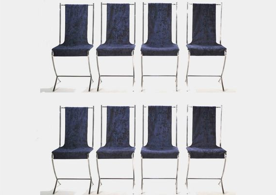 Jensen 5 Piece Counter Sets With Regard To Trendy Dining Chairspierre Cardin For Maison Jansen, 1970S, Set Of 8 (Gallery 6 of 20)