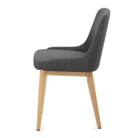 Jersey Dining Chair Oak & Charcoal – Atlantic Shopping Throughout Fashionable Charcoal Dining Chairs (View 2 of 20)